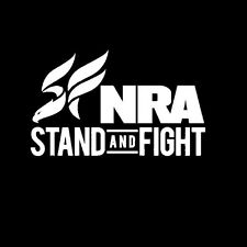 """NRA Rifle Window Decal Stand and Fight Bumper Sticker Size 3""""X3"""" Lot of 4"""