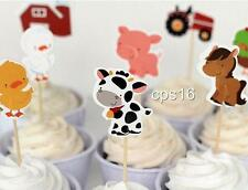12 Farm Themed Cupcake Party Picks....Animals Barn Tractor...Cupcake Topper