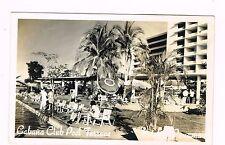 Cabana Club Pool Terrace Hotel Panama City Real Photo Postcard Unused 1950s