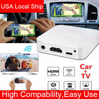 Car WiFi Display Mirror Link Adapter HDMI AV RCA DLNA Airplay Android iOS to TV
