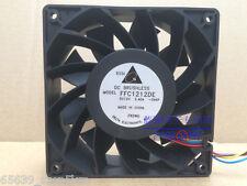 PC Cooling Fan 12cm 12V DC 2.4A 200CFM Brushless Motor 4Pin Connector  FFC1212DE