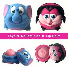 Elephant (Miracle Berry) & Ladybug (Pink Lemonade) lip balm toys