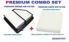 PREMIUM COMBO SET AIR FILTER + CABIN AIR FILTER For 2016 2017 HONDA HRV HR-V