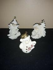 "Giuseppe Armani Christmas Ornaments- Lot Of 3- 1997,1998,2000 ""Frosty"""