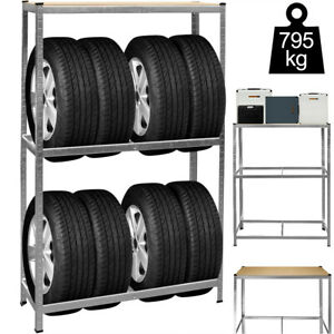 Tyre Wheel Rim Storage Racking Shelving Heavy Duty Rack Shelf Garage Workshop