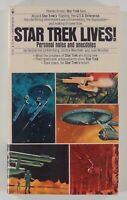 "1975 STAR TREK LIVES! Trek fandom TOS ACTORS anecdotes ""return"" first printing"