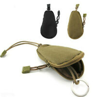 Tactical Mini Oxford Zipped Army Fan Key Coin Case Purse Keychain Wallet Holder