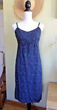Aeropostale Womens  Blue Paisley Flower Dress 100% Rayon size 6