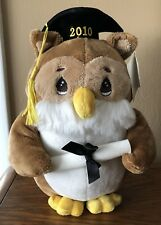 """Precious Moments 12"""" Tall Plush Graduation Owl Dated 2010 ~ New With Tag"""