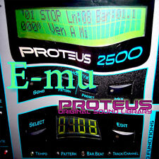 E-MU PROTEUS THE very best of/LARGE UNIQUE ORIGINAL SAMPLES LIBRARY on CD