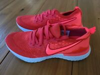 Nike Youth Shoes Size 5Y Epic React Flyknit 2 GS Chile Red AQ3243-601