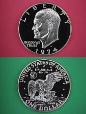 1974-S Deep Cameo Proof Clad Eisenhower Ike BU Dollar Flat Rate Shipping