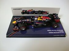 1:43 MINICHAMPS VETTEL REDBULL BRAZILIAN GP WINNER W CHAMPION 2013
