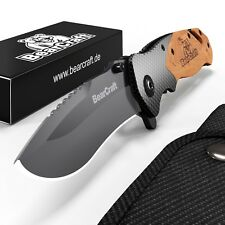 BearCraft Klappmesser | Survival Taschenmesser | Outdoor Messer | Einhandmesser