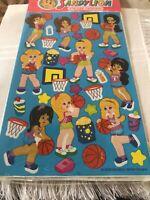 New 2002 Sandylion Sticker Design Basketball Girls Sports 2 Sheets
