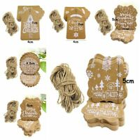 25pcs Christmas Kraft Paper Price Wedding Scallop Label Blank Luggage Gift Tags