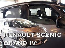Renault Scenic IV GRAND 5 door 2017-up wind deflectors 4pc set TINTED HEKO