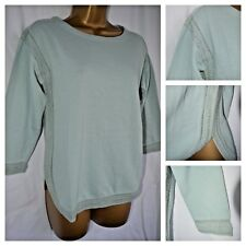 NEW WHITE STUFF JERSEY TEE TOP DUCK EGG MINT CASUAL EMBROIDERED COTTON 6 - 18