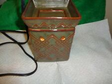Scentsy Wax Warmer Olive Green Square Design Warmer