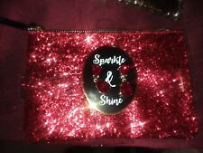 NEW 2 PC SPARKLE & SHINE HANDBAG &PIERCED EARRING SET--RUBY RED