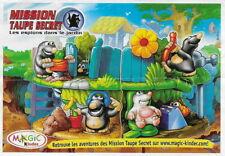 BPZ kinder Puzzle 3D Mission top secret C-55 France 2004