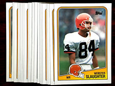1988 Topps Webster Slaughter ~20 Cards Lot~ Browns Wide Receiver Rookie Card RC