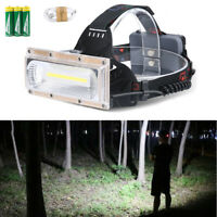 30W LED COB USB Rechargeable 18650 Headlamp Headlight Fishing Torch Flashlight D