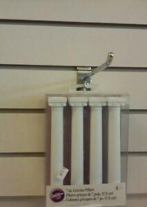 Wilton 4pk  Grecian Pillars Wedding Cake Tier Separator Support Stand Decoration