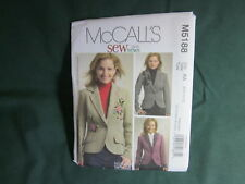 MCCALLS M5188 MISSES LINED JACKET BLAZER SEWING PATTERN SZ 14 TO 20
