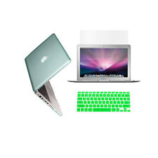 """3 in 1 Crystal  GREEN Case for Macbook PRO 13"""" + Keyboard Cover + LCD Screen"""