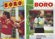 SILLY PRICE TO CLEAR! MIDDLESBROUGH v BLACKBURN  & PORTSMOUTH 1990 - 91 VGC
