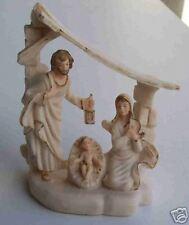 VALENTINO SCULPTURE Art Manger Mary Joesph Jesus Child