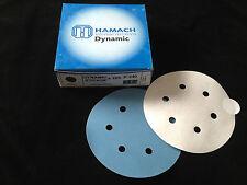 HAMACH -Dynamic(Stick-klebend)- Schleifscheibe ∅ 150mm P240 (100 Stk.) 6 Loch