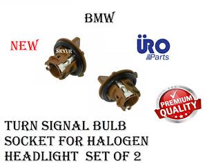 Brown Turn Signal Bulb Socket For Halogen Headlight SET OF 2 FOR BMW E90 E91 URO
