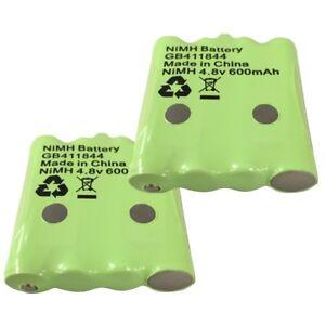 2 x Batteries for Binatone Terrain 550 & 750 Walkie Talkies 4.8V 600mAh GB411844