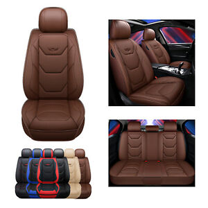 Pure Brown Leather Car Seat Covers Ford Falcon Focus Fiesta Ranger Mondeo Kuga