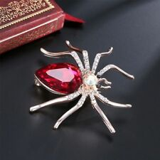 Red Spider Shaped Women Brooch Fashion Jewelry Pin Gift