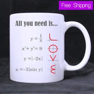 Smart Design Math Style LOVE Pattern All you need is LOVE Ceramic Coffee Mug