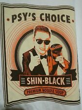 Psy's Choice T-Shirt Short Sleeve Shin Black Premium noodle soup Medium Z44