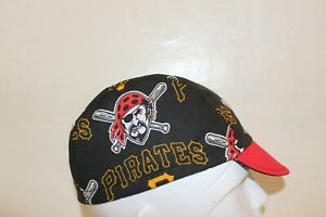 CYCLING CAP PIRATES    100% COTTON HANDMADE IN USA S/M/L