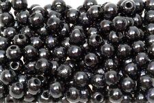 Holzperlen 8 mm schwarz, glänzend, 500 Stück
