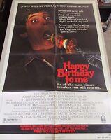 Vtg 1 sheet 27x41 Movie Poster Happy Birthday To Me 1981 HORROR Glenn Ford
