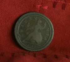 1723 Great Britain 1/2 Half Penny World Coin Britania Seated UK England RARE