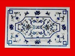24 x 48 Inches Marble Coffee Table Top Royal art with Blue Stone Dinette table