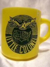 Hazelware Mug Little Colonel - Milk Glass Yellow Vintage - Unique