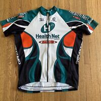 Rare Cannondale Maxxis Shimano Health Net Cycling FULL ZIP Jersey Mens XL