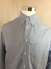 Roundtree & York Gold Label Non- Iron 100% Cotton L Long Sleeve Dress Shirt-A48