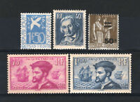 FRANCE STAMP ANNEE COMPLETE 1934 , 5 TIMBRES NEUFS xx TB /TTB, VALEUR:434€ R439B
