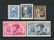 FRANCE STAMP ANNEE COMPLETE 1934 , 5 TIMBRES NEUFS xx TB /TTB, VALEUR:434€ R439D