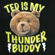 Ted Movie T Shirt Adult L Thunder Buddy Novelty Graphic Black Top